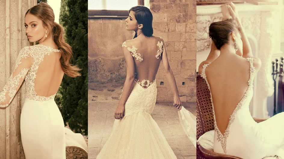 #Tendência: vestido de noiva com 'costas dramáticas'