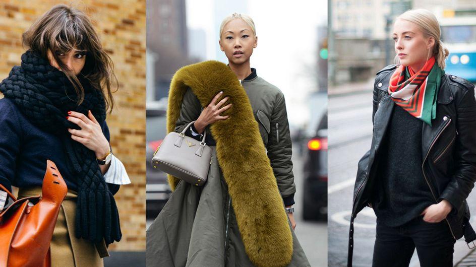 Sciarpe per l'autunno inverno: scopri le 3 tendenze più seguite e i look più belli