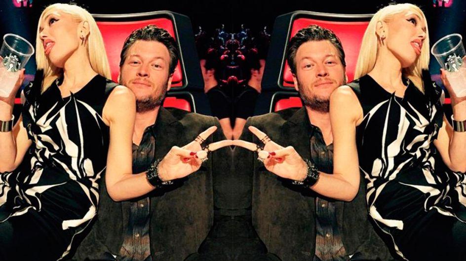 O amor está no ar entre Gwen Stefani e Blake Shelton, jurados do The Voice americano