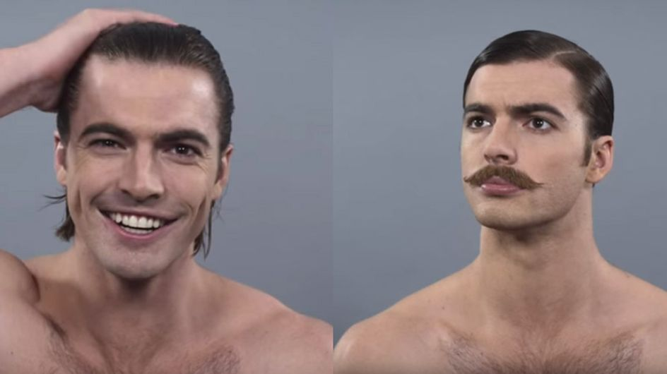 Watch 100 Years Of Male Beauty Trends In Two Minutes
