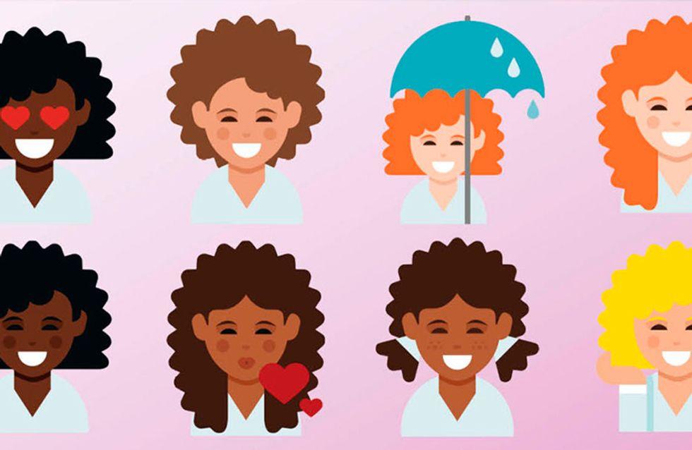 Emojis de garotas com cabelos cacheados: até que enfim!