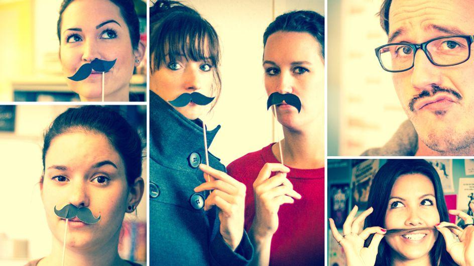 Haha! Ganz gofeminin trägt jetzt Schnurrbart! Doch der Grund dafür ist ernst ...