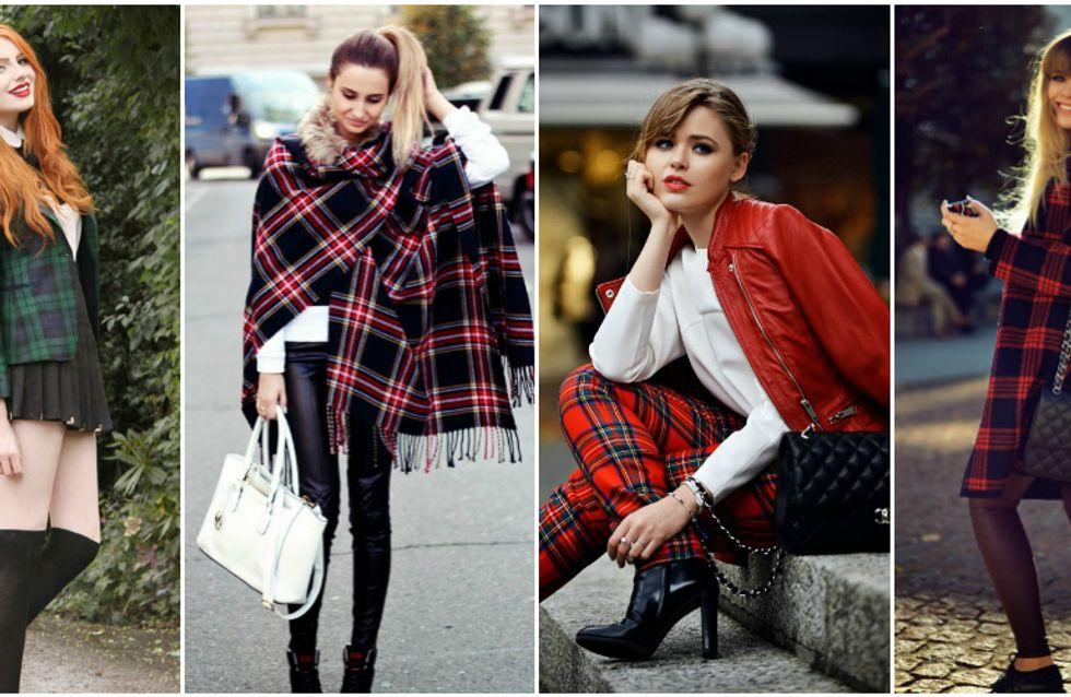 Non c'è inverno senza tartan. Scopri 50 look e 50 capi con le stampe più amate della moda!