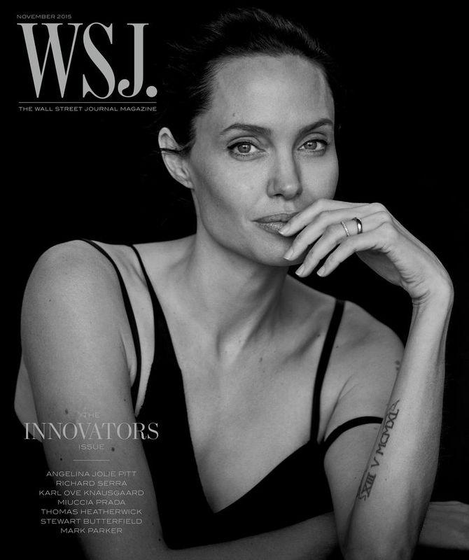 Angelina Jolie pour le WSJ.