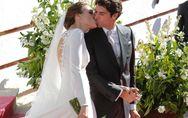 Diamantes y 12 botones: todos los detalles de la boda de Eva González y Cayetano