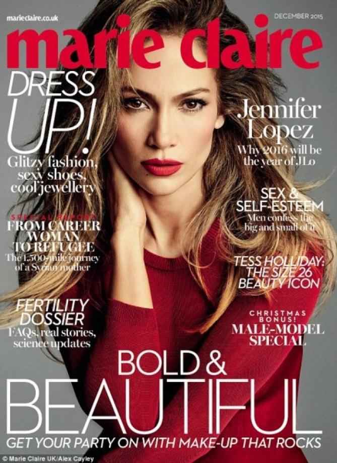 Jennifer Lopez en couv' de Marie-Claire