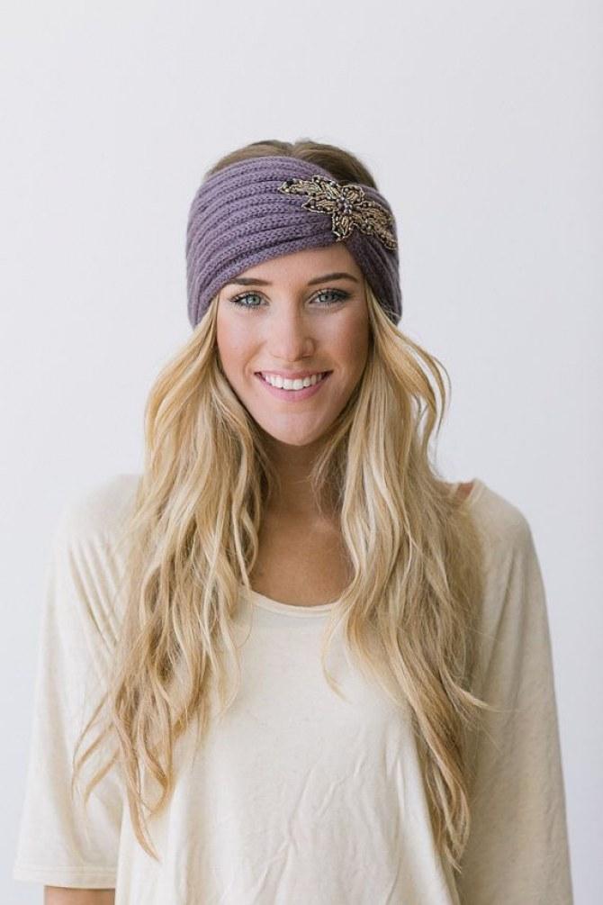 Winterfrisuren mit Haarband