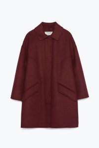 Cappotto over bourdeaux Zara