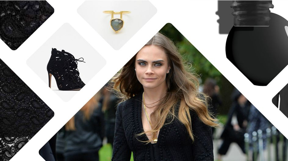 On copie le total look black de Cara Delevingne