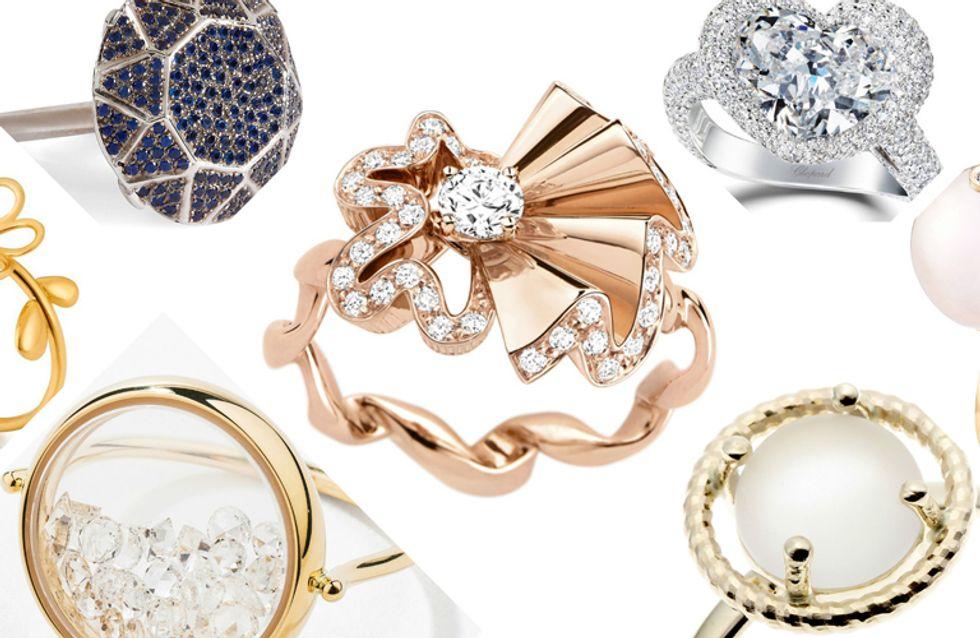 bague diamant forme originale