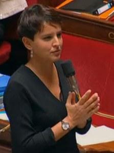 Najat Vallaud-Belkacem à l'Assemblée