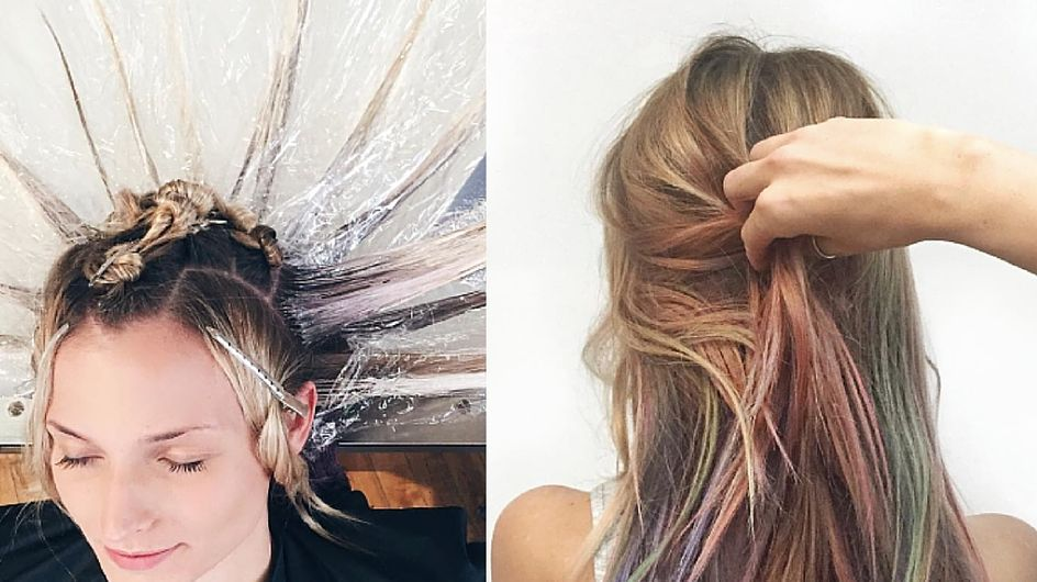 """Si chiama """"Fluid hair painting"""" e ti farà LETTERALMENTE girare la testa"""