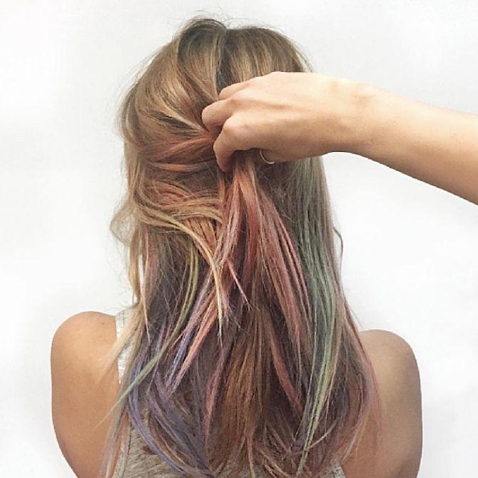 Fluid hair painting