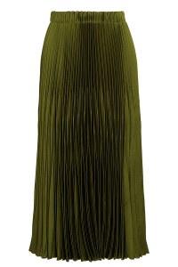 Gonna plissettata lunga verde oliva Gucci