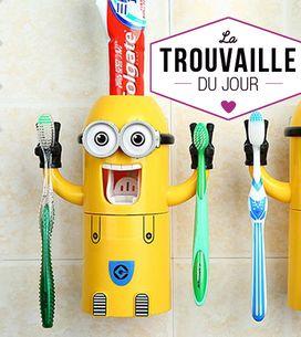 On veut ce distributeur de pâte dentifrice Minions