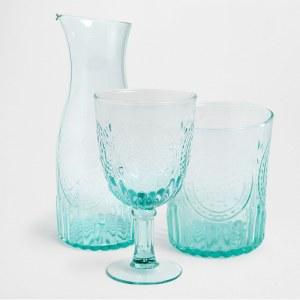 Juego de vasos, copas y jarra