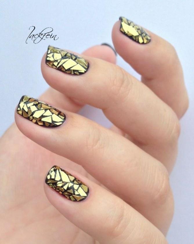Glass-Nails: Ganz leicht mit Folie nachmachen
