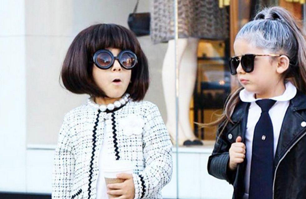 Nunca seremos tan fashion como estas gemelas de 4 años