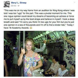 Le message de Meryl Streep.