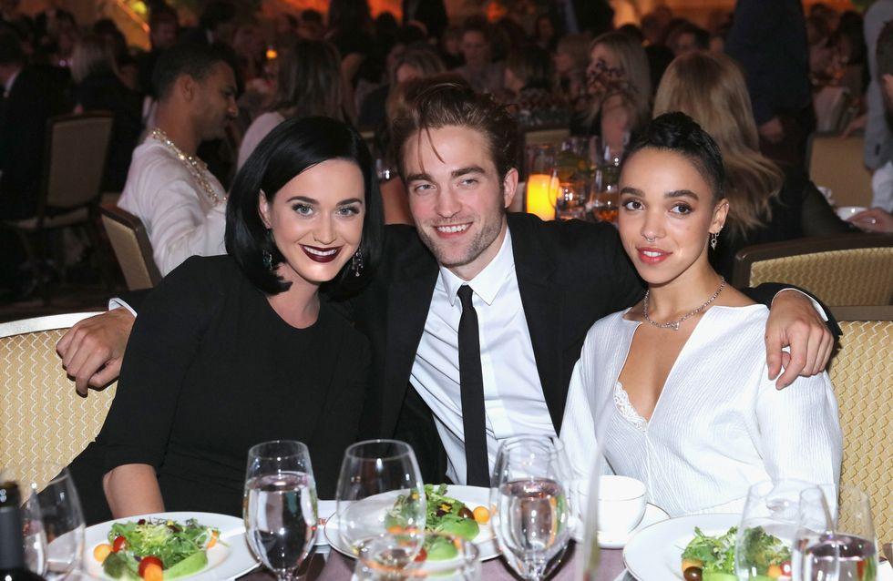 Rendez-vous à trois pour Robert Pattinson, FKA Twigs et Katy Perry (Photos)