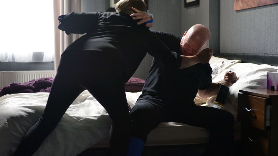 Eastenders 27/11 - It's the morning after and a broken Sharon still refuses to let Phil out of the room