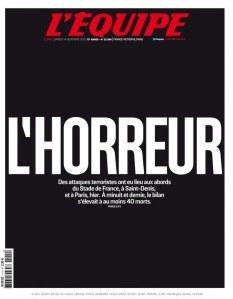 """L'équipe, """"L'Horreur"""""""