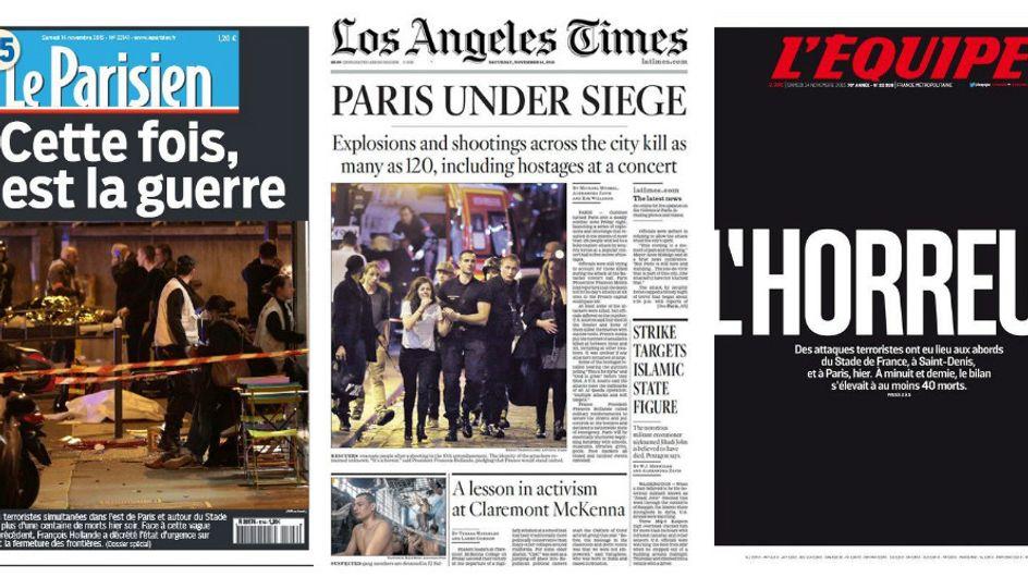 Attentats à Paris : L'horreur en Une de la presse du monde entier