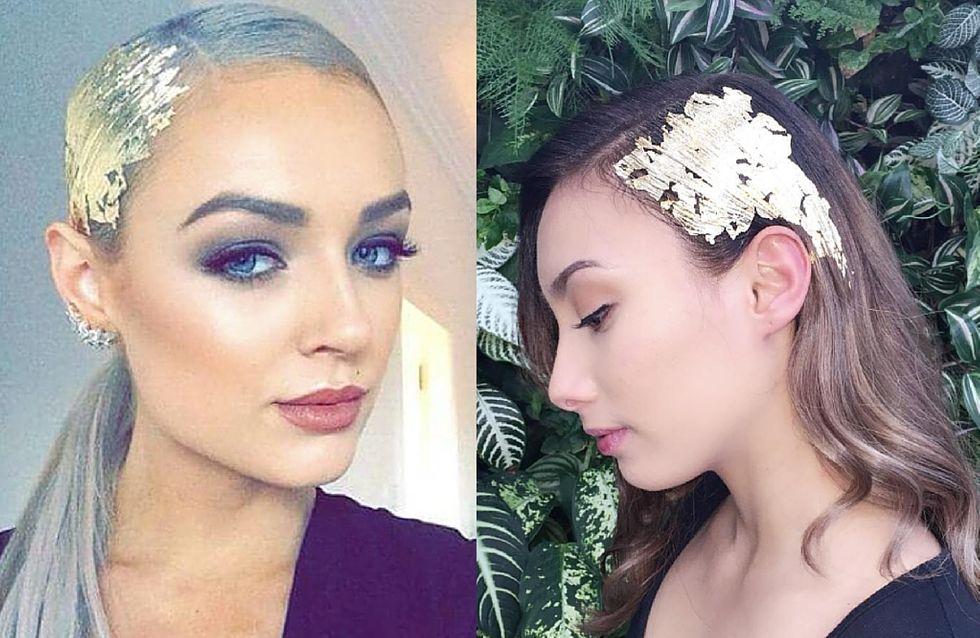 Foglie d'oro tra i capelli: trend o pazzia?