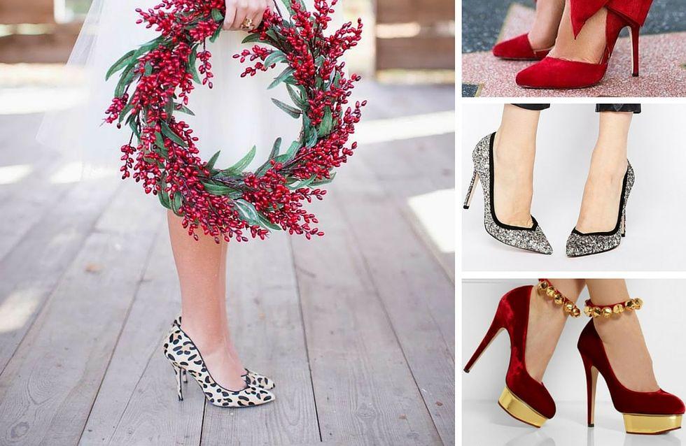 Qui oserait porter ces escarpins 100% Noël repérés sur Pinterest ?