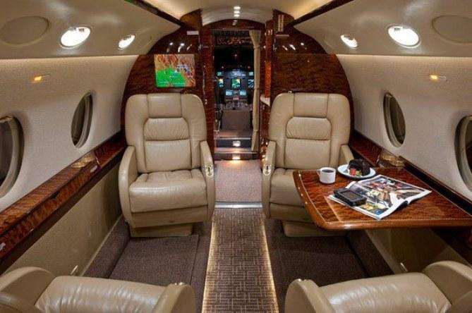 Interior del Gulfstream G200