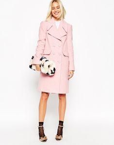 Cappotto rosa Asos Collection