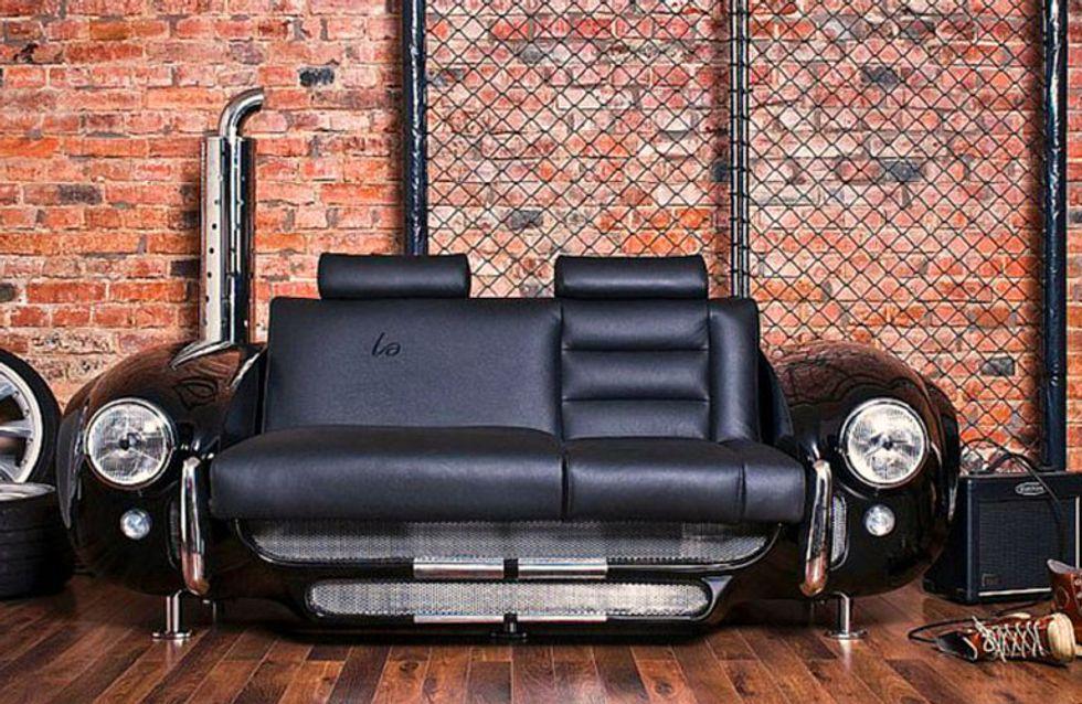 30 curiosos muebles fabricados con coches reciclados