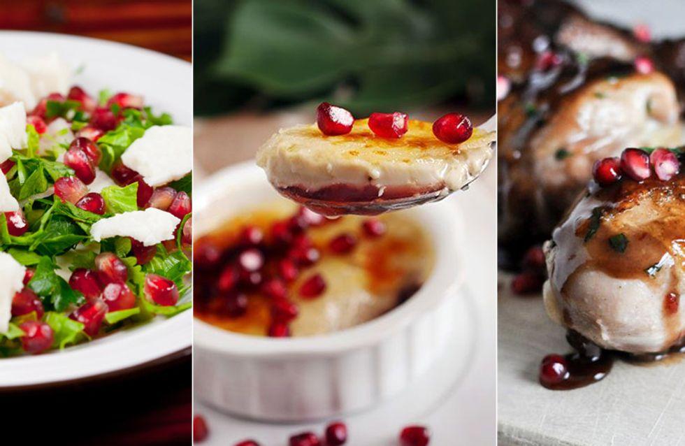 4 receitas deliciosas com romã (fica a dica pro Natal!)