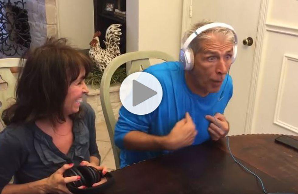 La réaction géniale d'un homme qui apprend qu'il va devenir grand-père (Vidéo)