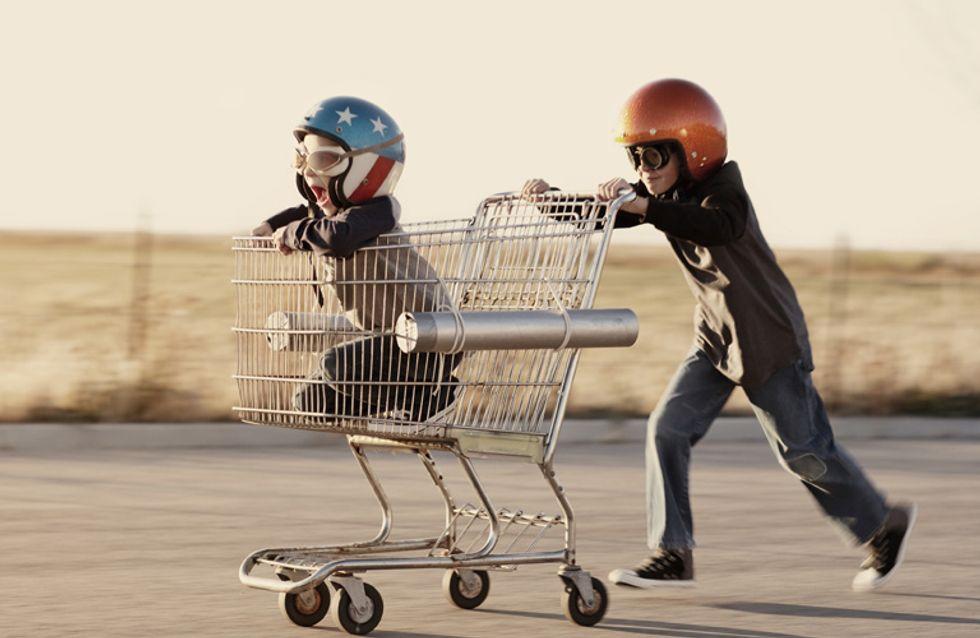 Horror pur! 10 Momente, die jede Mama kennt, die mit ihren Kindern einkaufen geht
