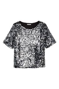T-shirt mezze maniche glitter; H&M