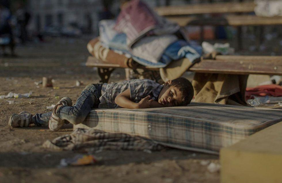 ¿Dónde duermen los niños refugiados? La cara más amarga de la guerra