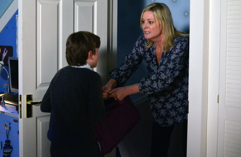 Eastenders 4/12 - Bobby is causing problems during the Christmas Tree light switch-on