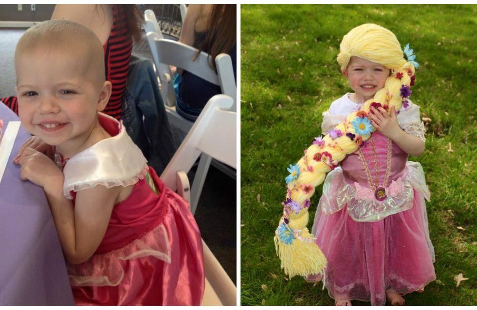 Cette maman crée des perruques de princesse pour les fillettes atteintes du cancer