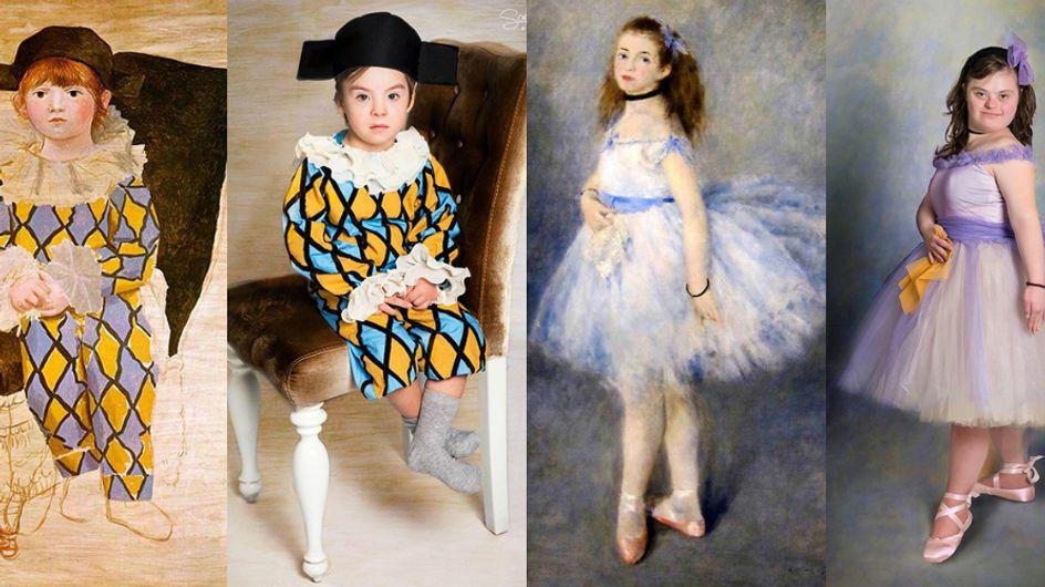 Crianças com síndrome de down retratadas como pinturas famosas provam que todo mundo é uma obra de arte