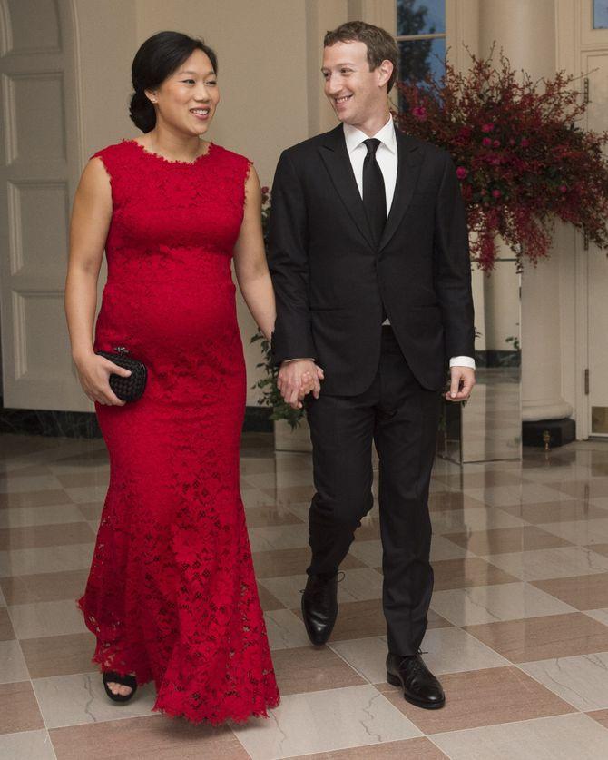 Mark Zuckerberg et Priscilla Chan