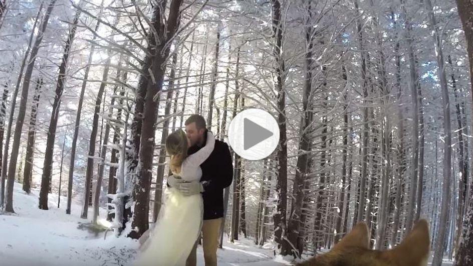 Ils laissent une caméra à leur chien le jour de leur mariage, et le résultat est très cool (Vidéo)