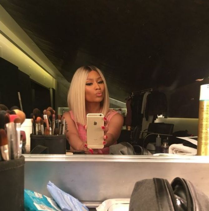 Nicki Minaj et sa nouvelle coupe