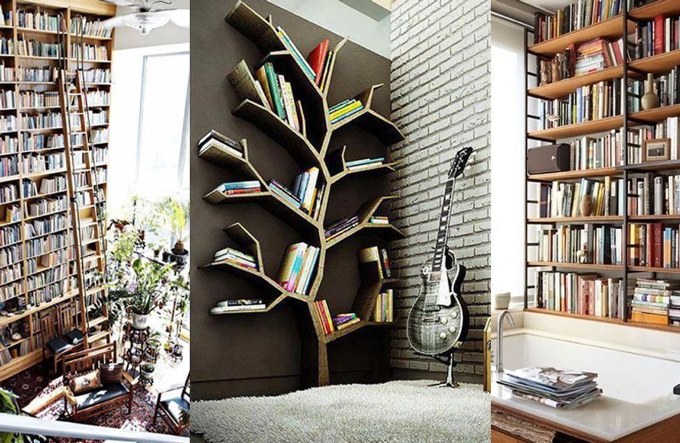 40 Stunning Bookshelves Which'll Make Book Lovers Go Weak At The Knees