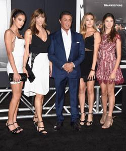 Sylvester Stallone, sa femme et leurs trois filles