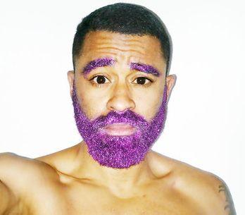 Glitter beards, llega la revolución de las barbas cubiertas de purpurina