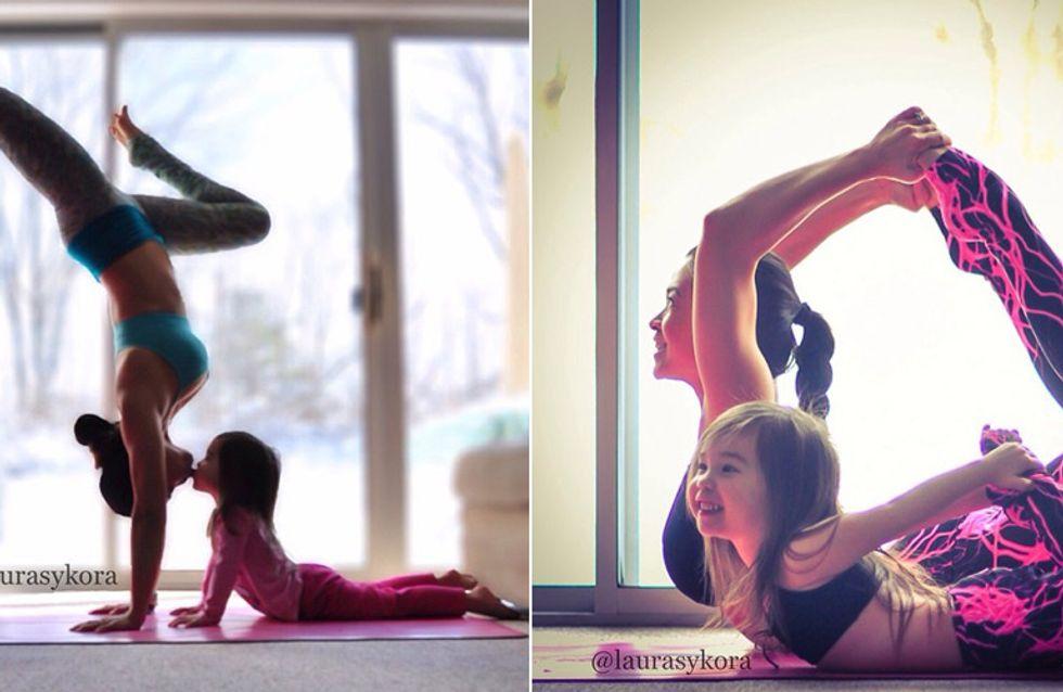 Wenn Mami mit mir Yoga macht: Die süßesten Bilder aller Zeiten!