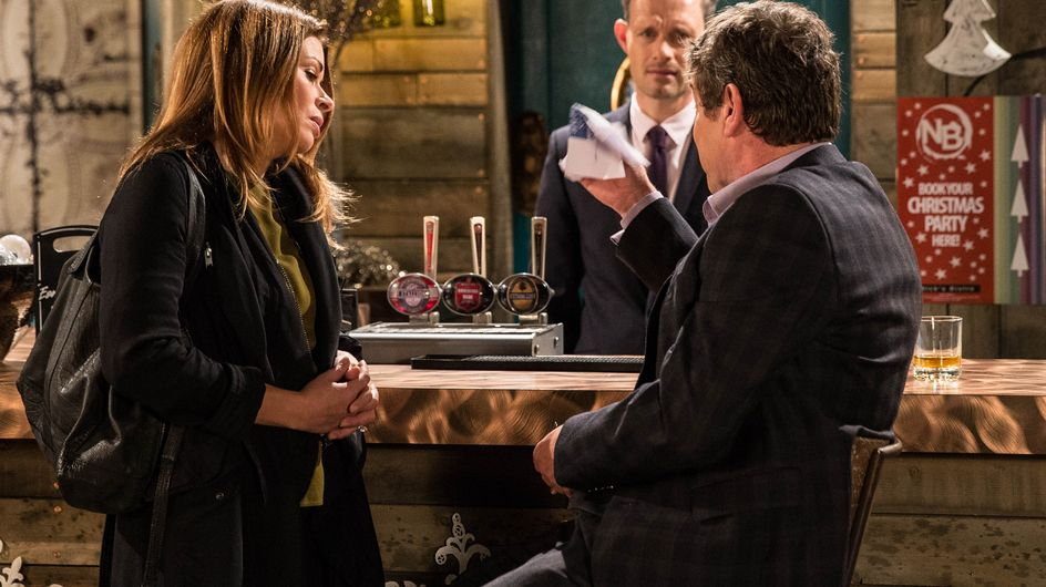 Hollyoaks 9/12 - Harry warns Cleo he will tell her family about her visiting Pete