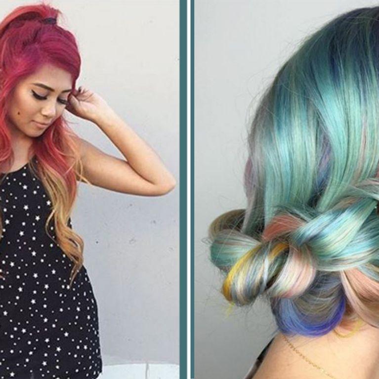 Wir Bekennen Farbe Die Neuen Haartrends Werden Kunterbunt
