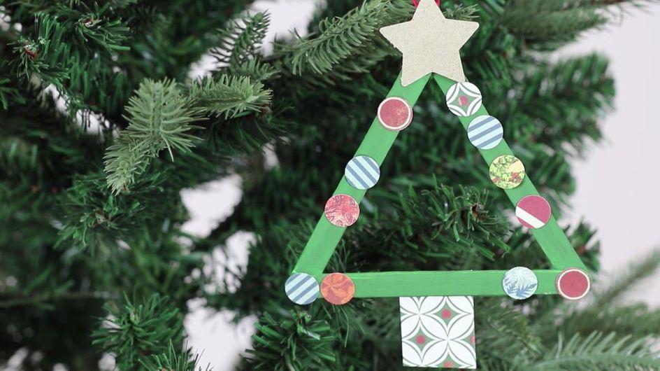 DIY : Une suspension géométrique pour mon sapin de Noël (Vidéo)